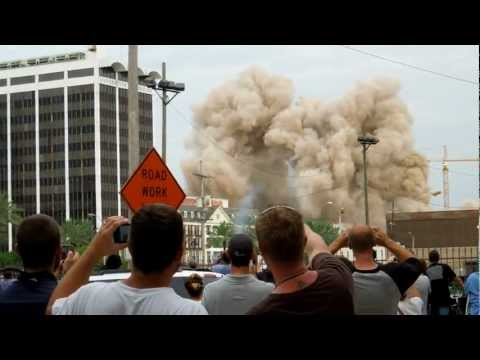 BOOM!!! Old Grand Palace Hotel implosion in NOLA